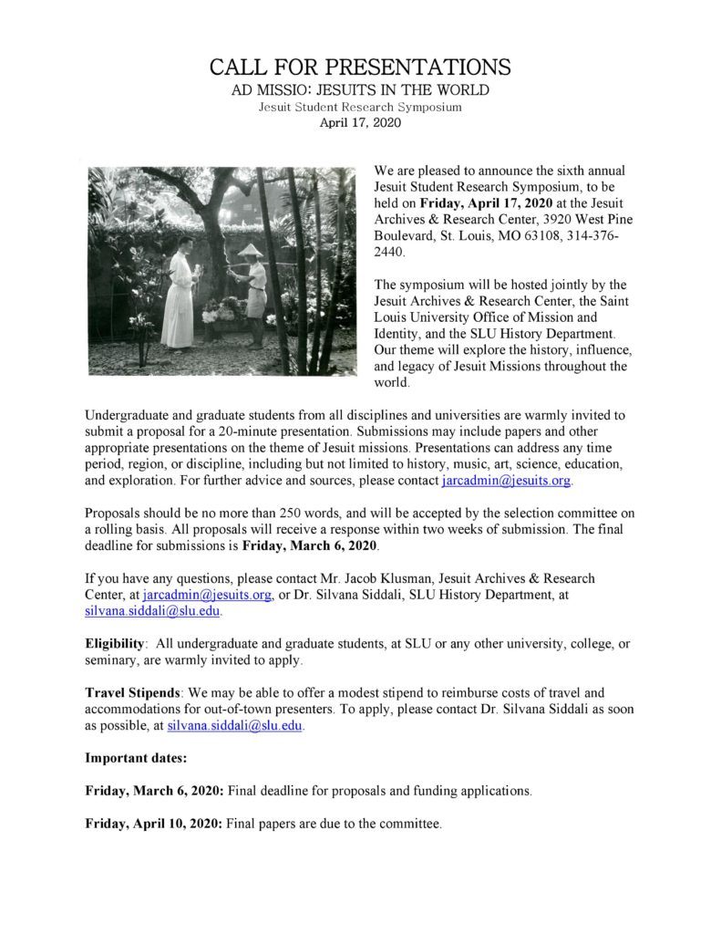 Flyer with a black and white photograph of two individuals in religious clothing. All of the flyer's details are written down next to the flyer image.